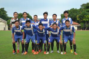 Foto bersama para punggawa UAD-FC sebelum bertanding.