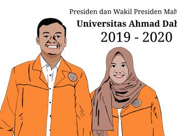 Rivandy-Siti Resmi Menjabat Presma dan Wapresma UAD hingga 2020